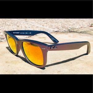 Ray-Ban Purple Blue Sunglasses w Orange Flash Lens